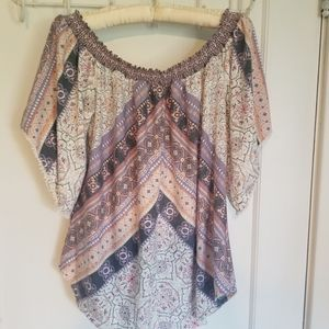 Maurice's patterned blouse
